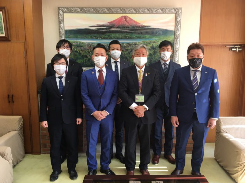 市長表敬訪問・女化神社参拝